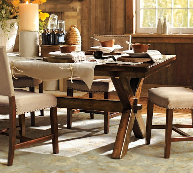 Copy cat chic pottery barn toscana dining table for Dining room tables pottery barn