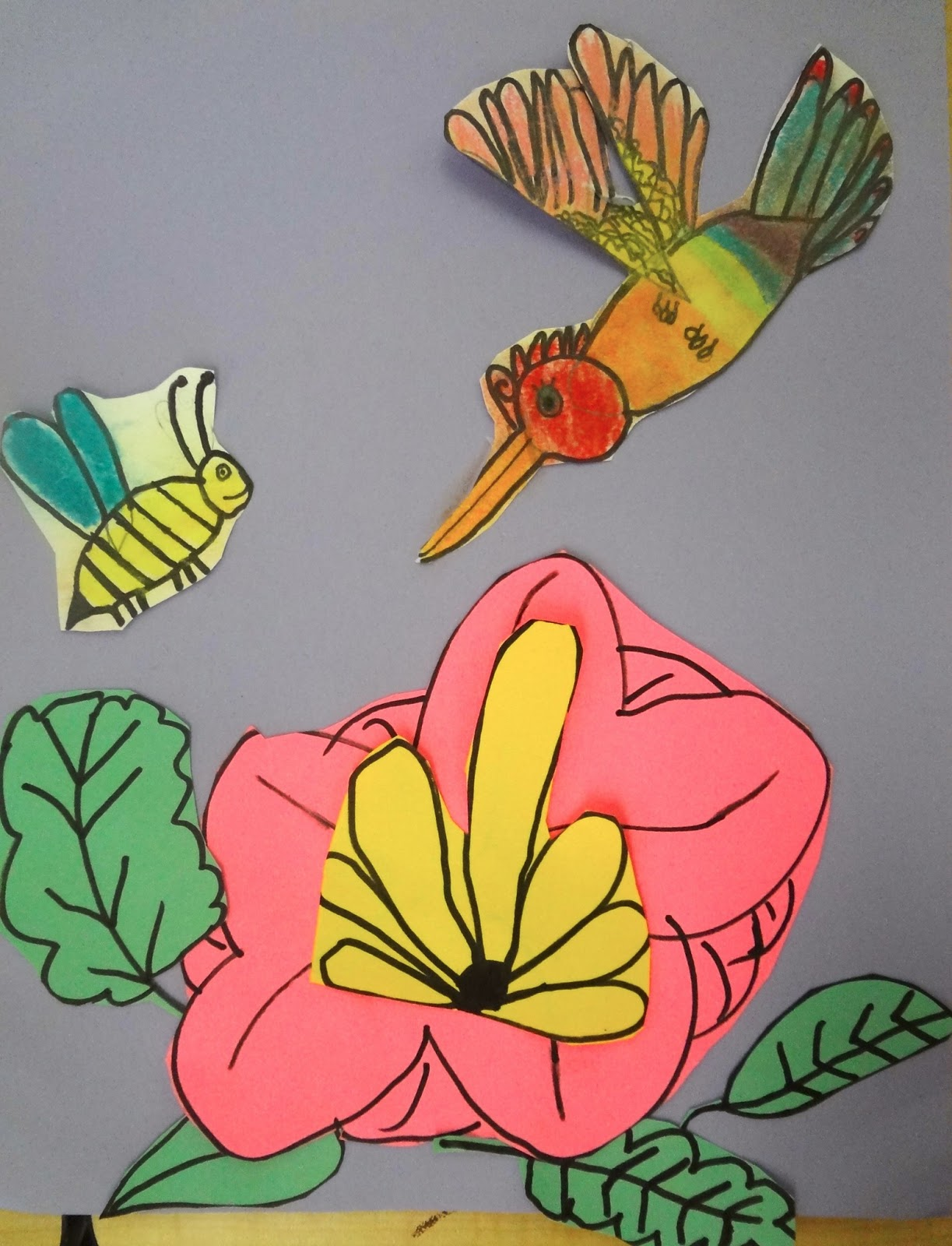 Pollination Art Lesson Hummingbird For Kids 2nd Grade Spring