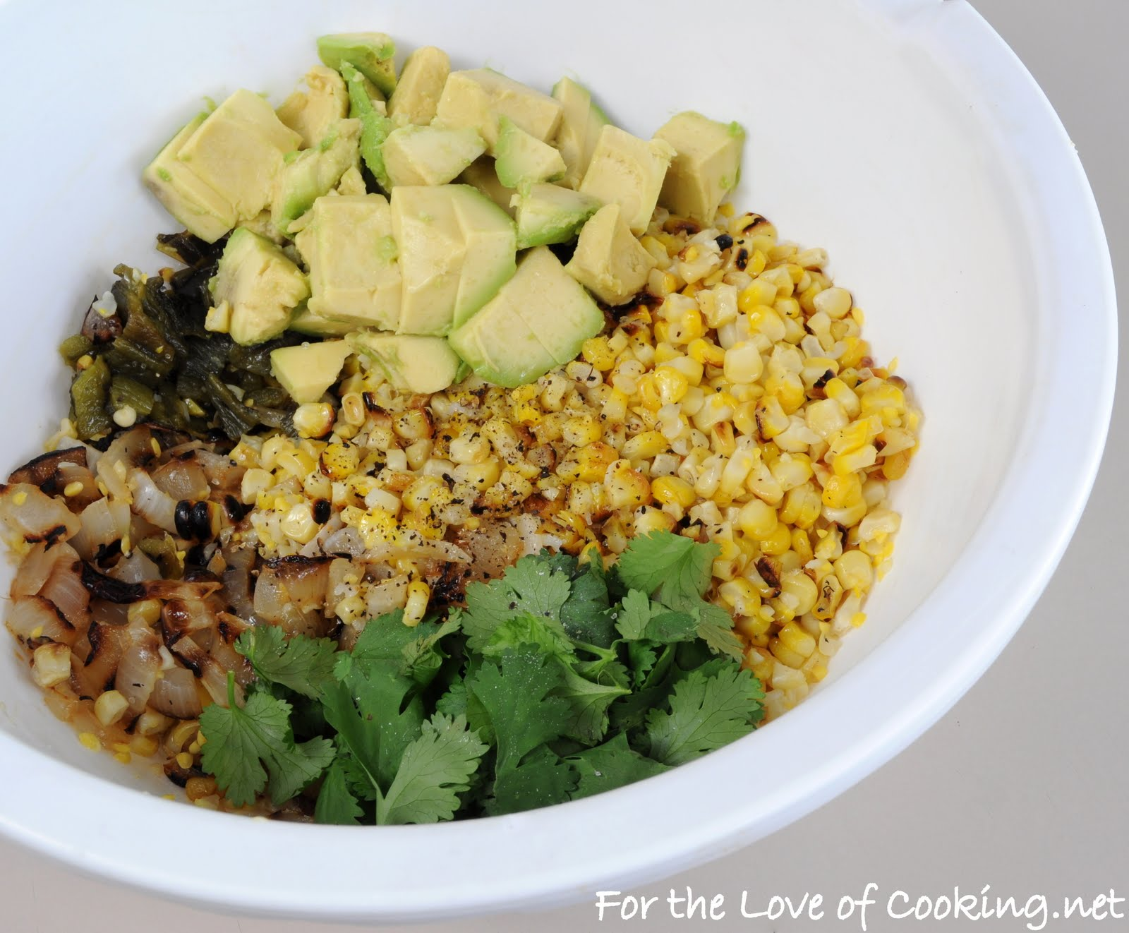 Grilled Corn, Poblano, and Onion Salad with Lime Vinaigrette | For the ...