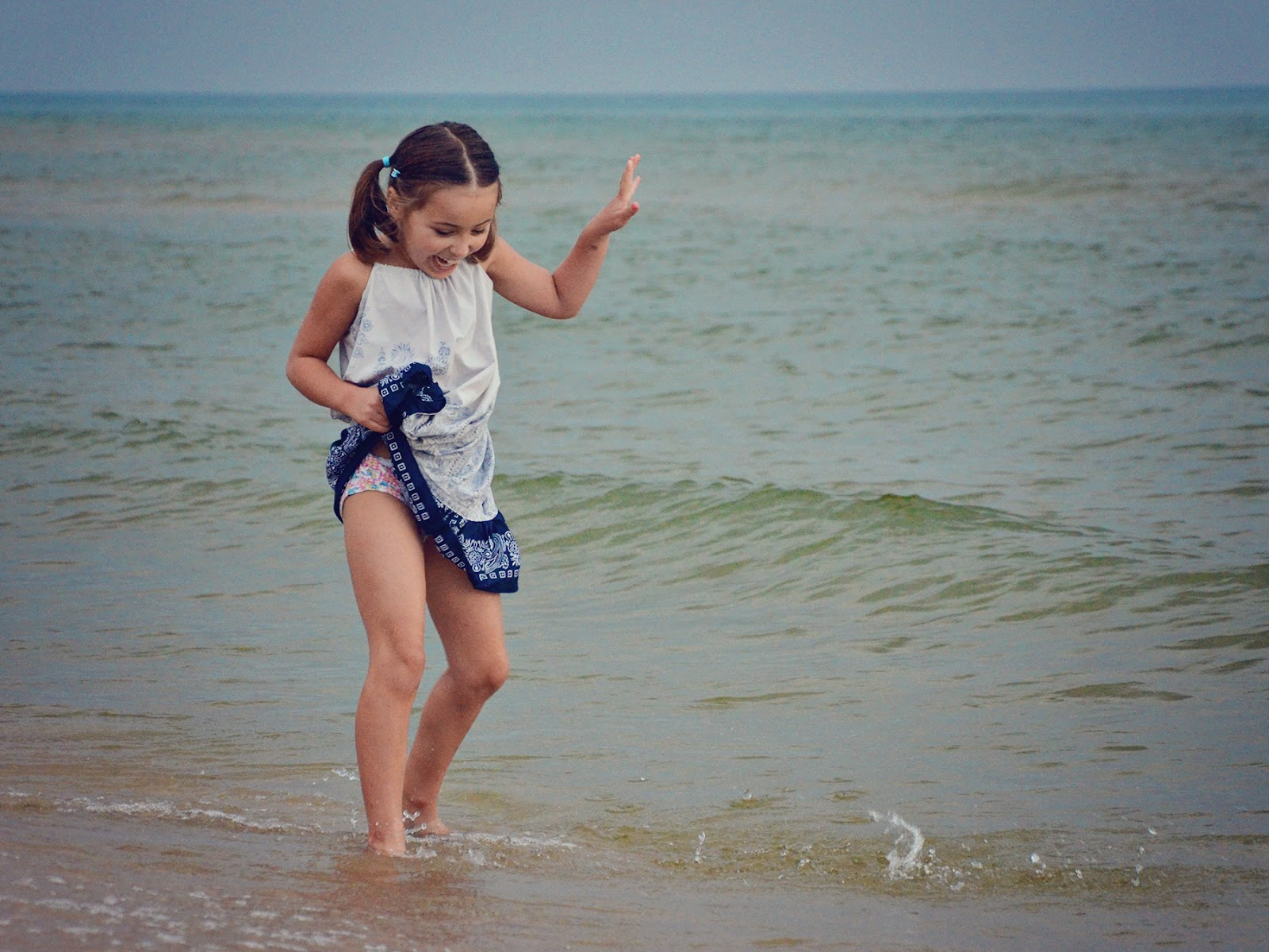 The Very young little girls beaches improbable