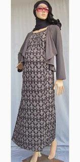 Desain baju hamil muslim modis simple