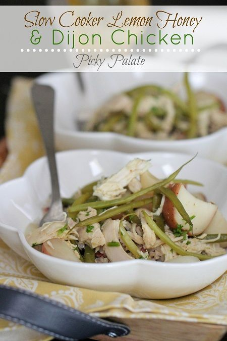 Slow Cooker Lemon Honey and Dijon Chicken Dinner [from Picky Palate ...
