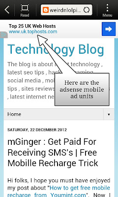 Add adsense mobile unit to blogger