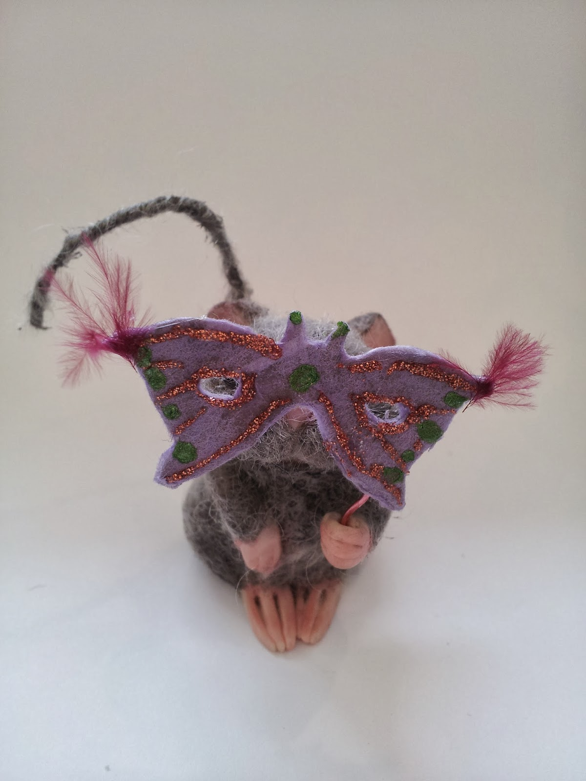 ooak topolino mouse topo polimery clay miniature handmade