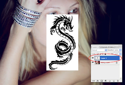 Adding Tattoo To a Photograph Using Photoshop