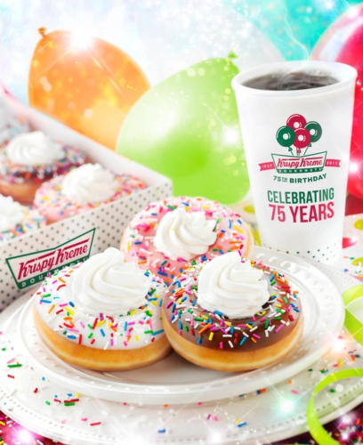 Krispy Kreme celebrates its 81st birthday. The North Carolina company is selling a dozen glazed doughnuts for $1 on Friday, July 27 with purchase of a dozen. Krispy Kreme is unveiling a new.