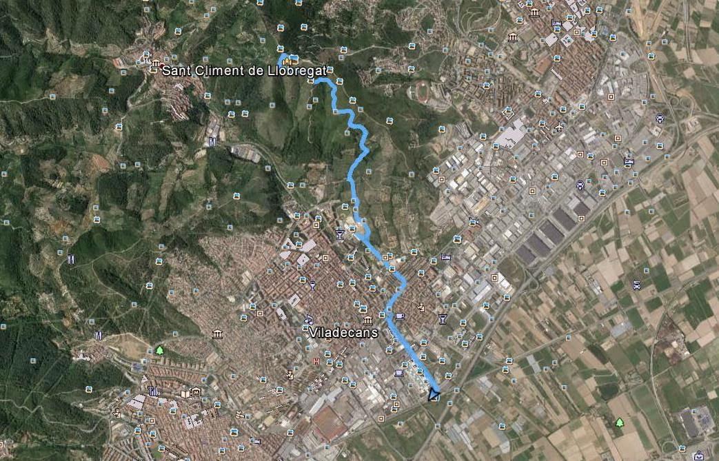 Recorregut: Viladecans-Sant Ramon