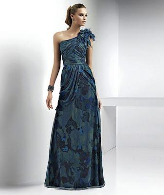 Moda: Vestidos de noche azules 2012 2012