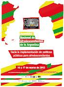 Asamblea Nacional de Afrodescendientes de la Argentina afiche asamblea afro