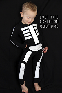 Skeleton Costume made with Duct Tape