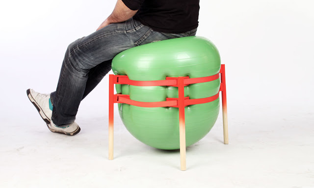 TheStooler, Four Wooden Legs Device by Andreu Carulla - Inspiring Modern Home