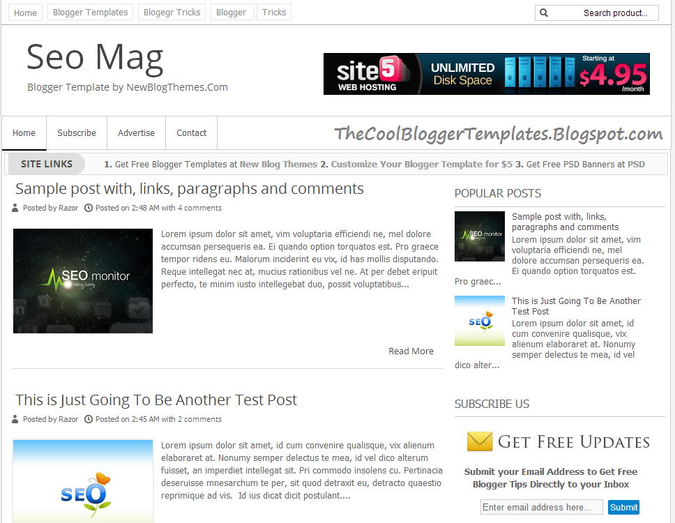 seo mag blogger template