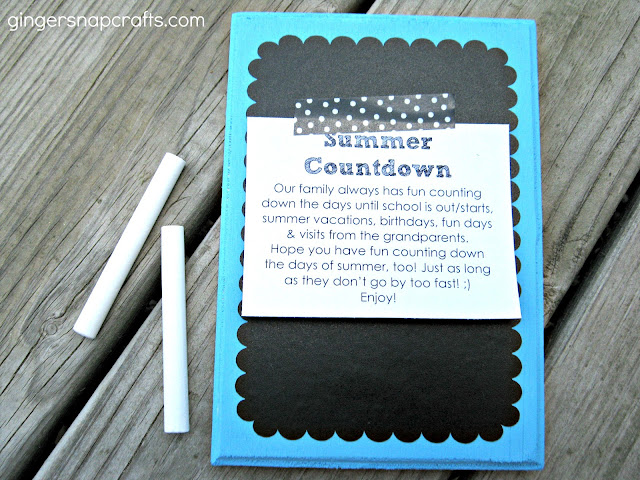 Chalkboard Countdown Plaques!! Great way to keep track of those exciting days!!
