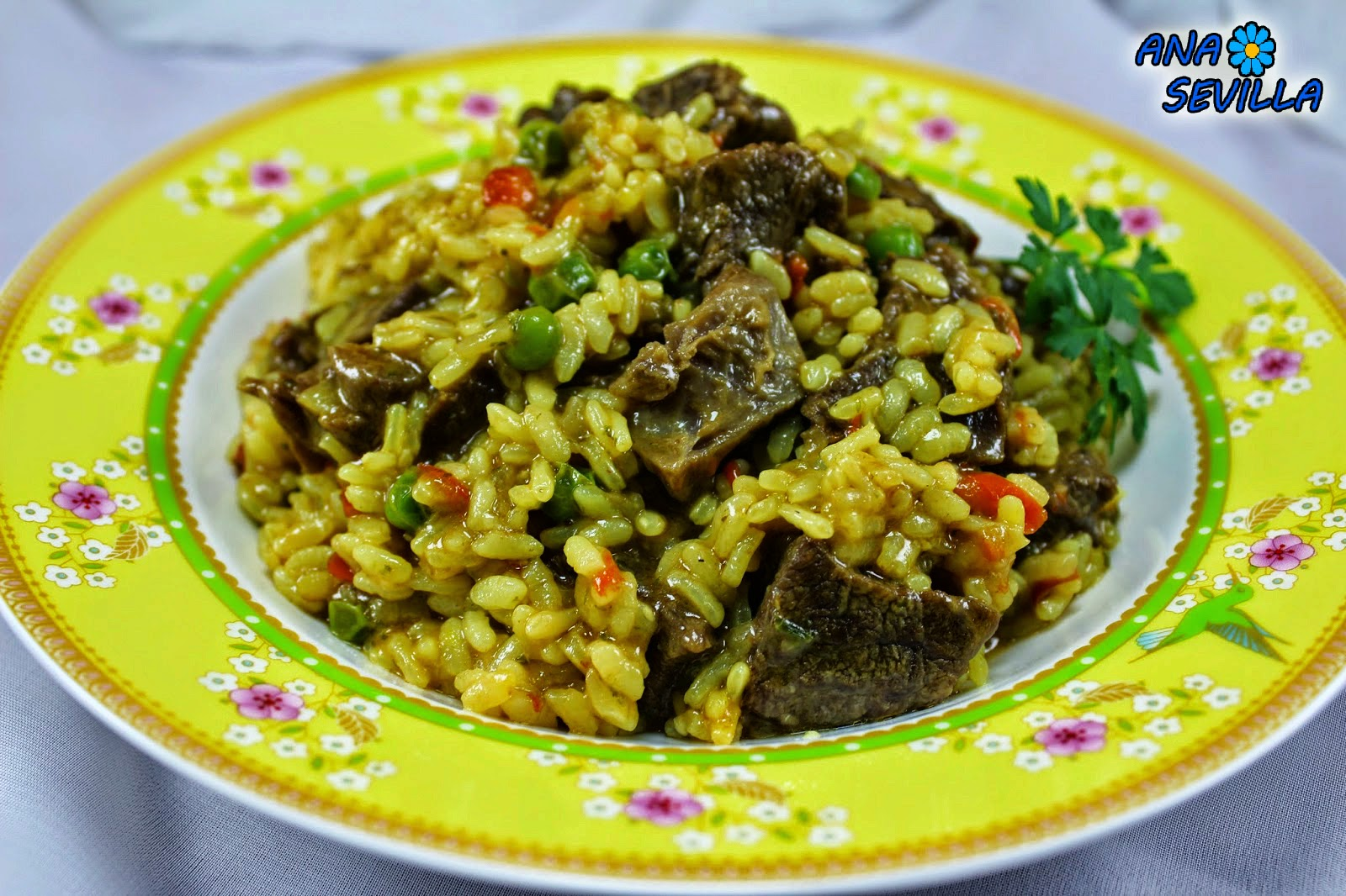 Arroz con ternera Ana Sevilla cocina tradicional