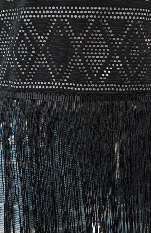 Fringe Festival Crochet Top - Black