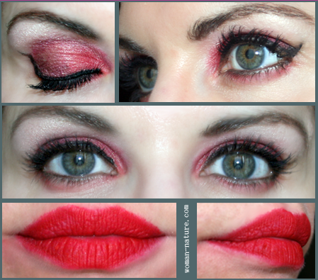 smokey eyes rojo