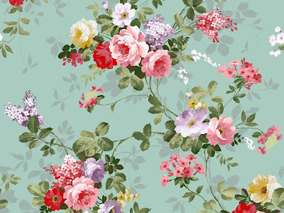 Vintage flower wallpaper