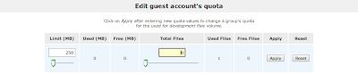 Edit guest quota