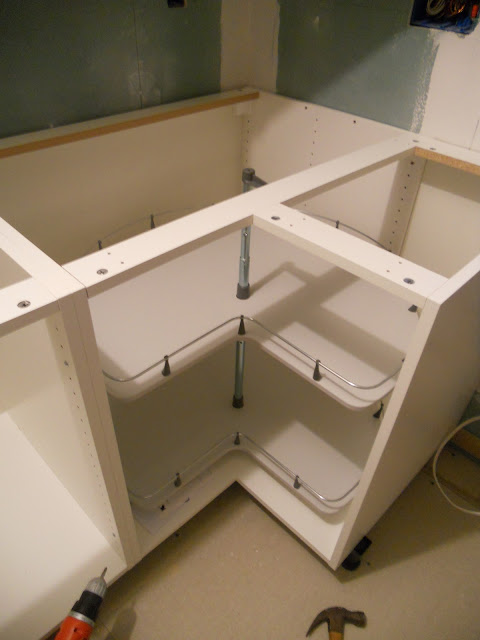 Installing an ikea kitchen part 2 short version me ed - Ikea corner cabinet door installation ...