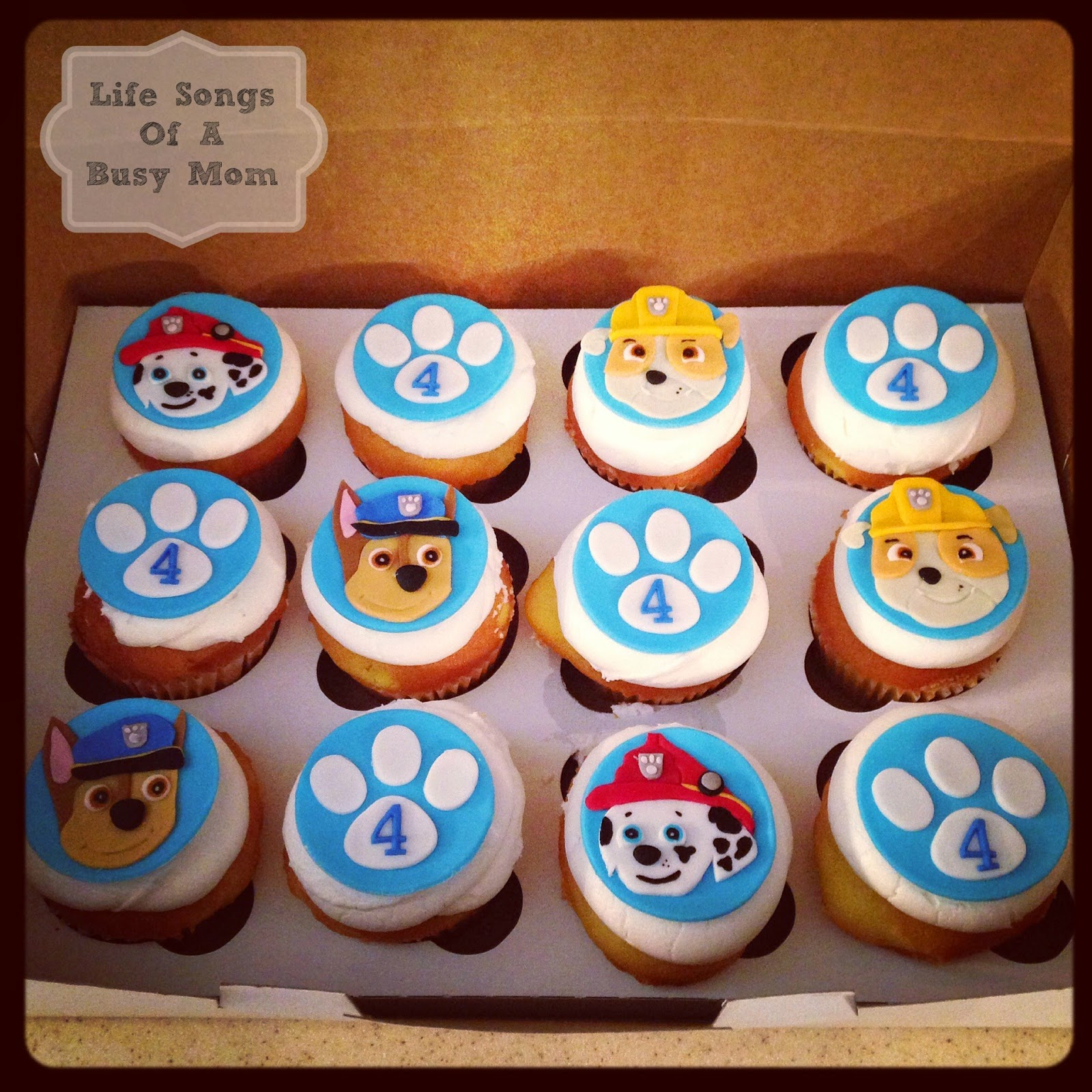 paw patrol cakes and cupcakes