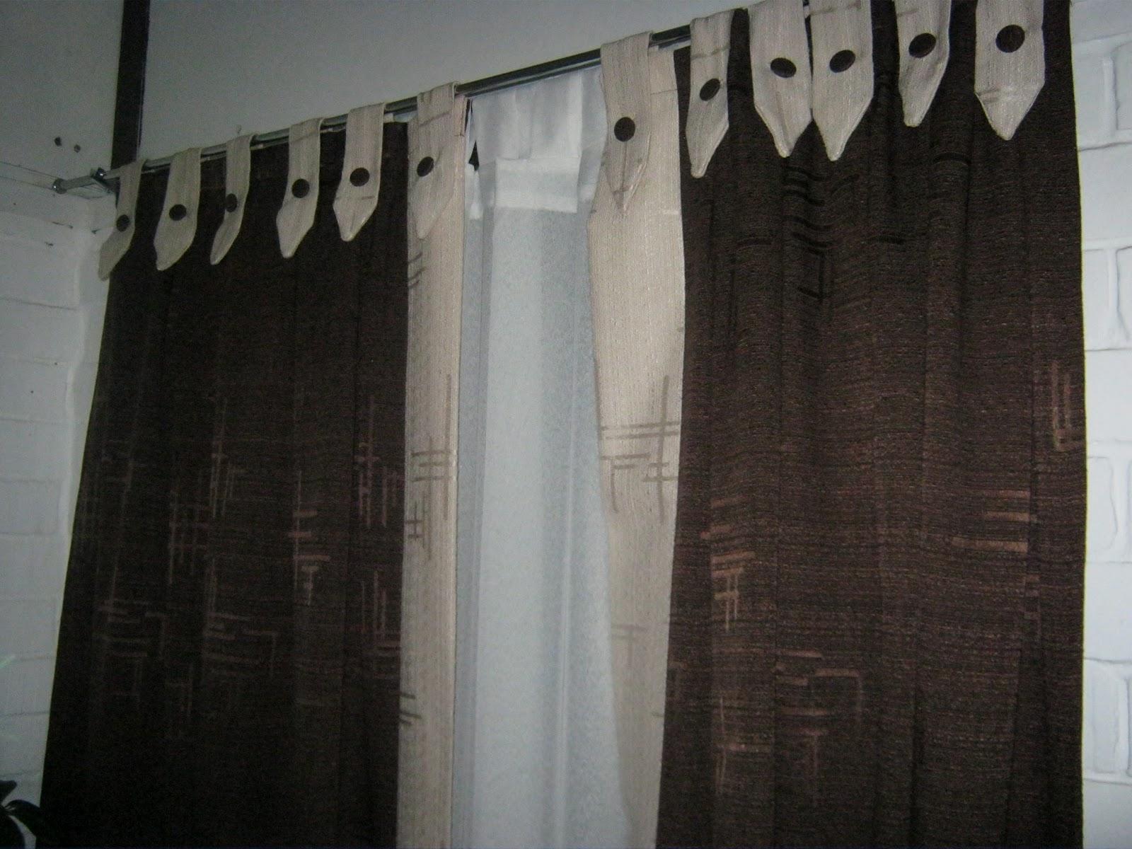 Tus dise os confecciones cortinas de tela for Cortinas de tela para living