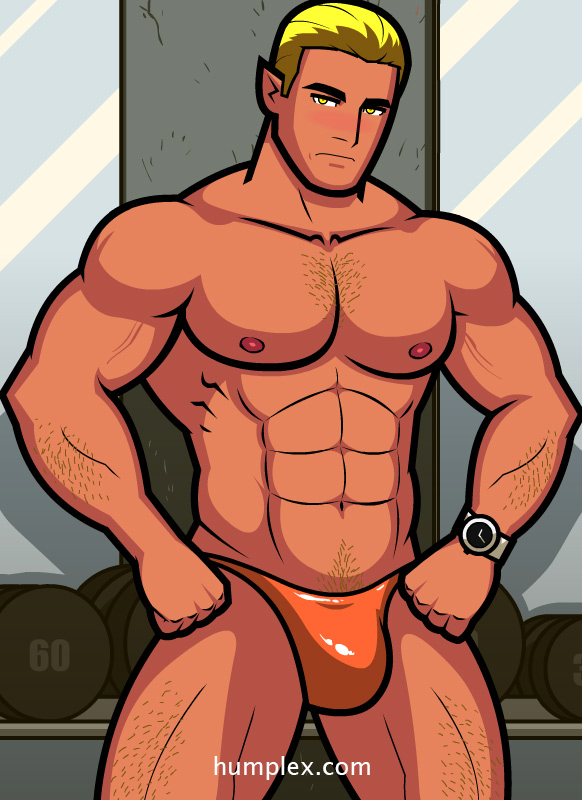 animated naked sexy men