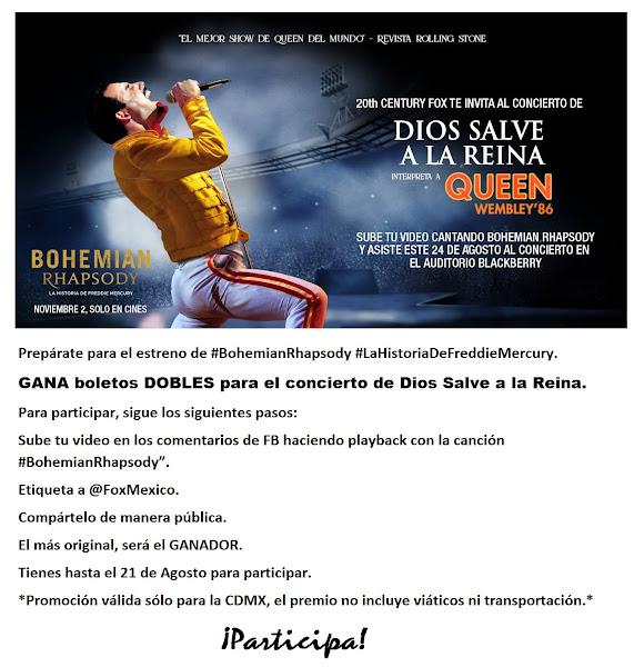 PROMOCIONES FOX MÉXICO: GANA BOLETO DOBLE PARA DIOS SALVE A LA REINA ¡PARTICIPA! www.foxlatina.com