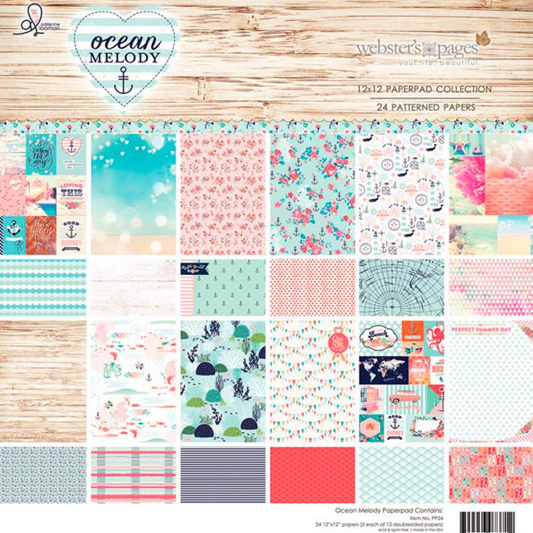 ocean melody websters pages, scrap, scrapbooking