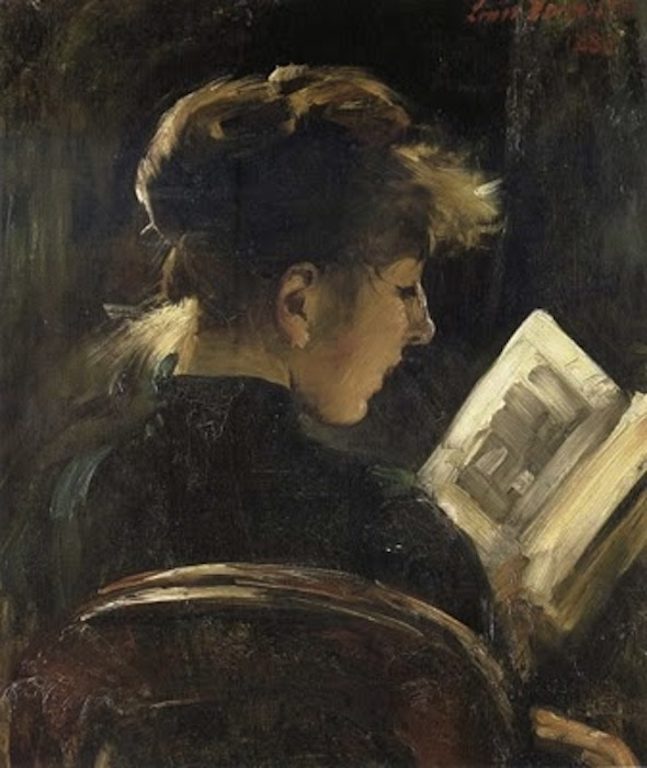 Lovis Corinth. Girl Reading, 1888