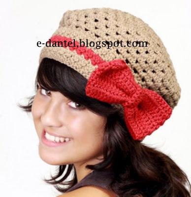 Fiyonklu Şapka Modeli