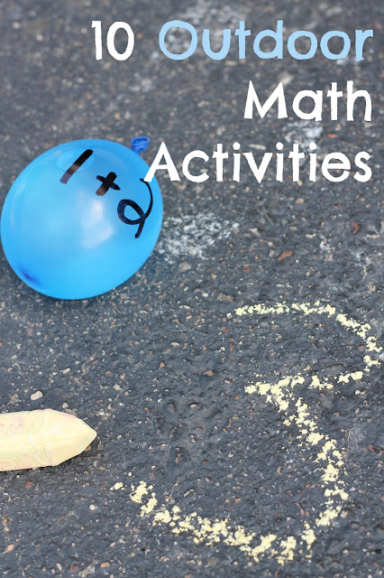 10 outdoor number and math activities