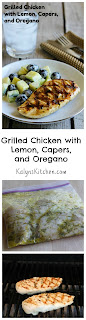 Grilled Chicken Recipe with Lemon, Capers, and Oregano [from KalynsKitchen.com]