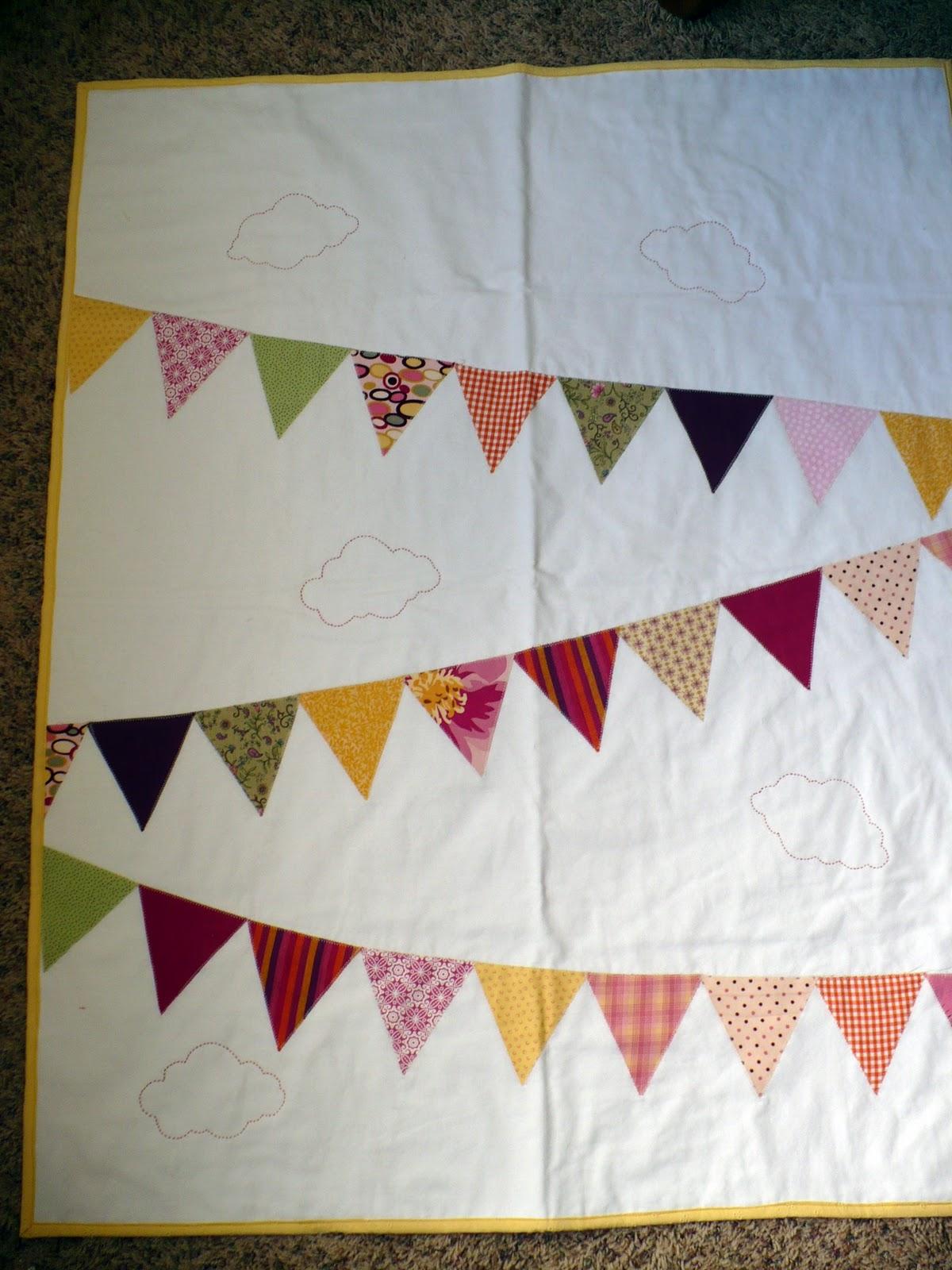 The Polka-Dot Umbrella: Bunting Baby Quilt