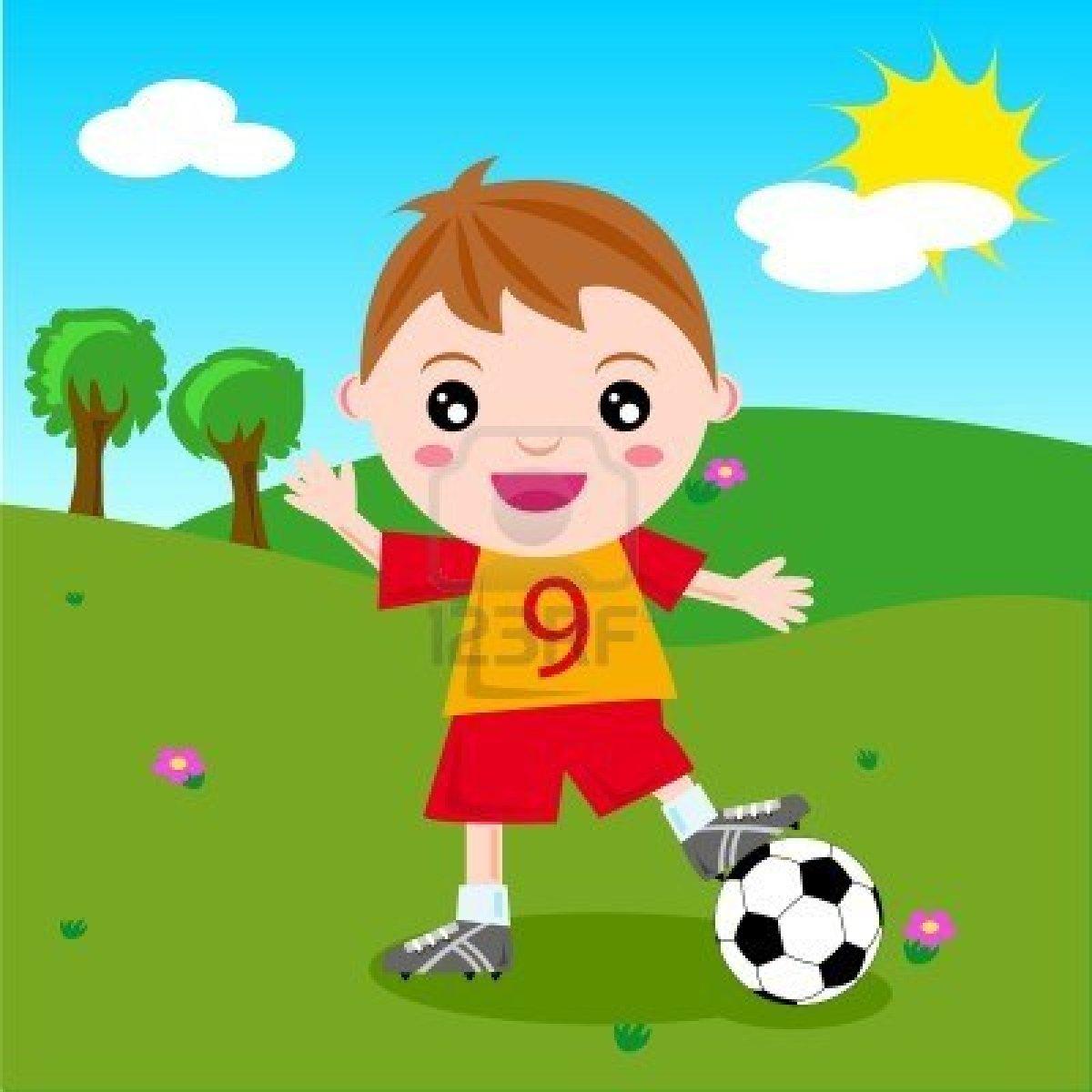 Рисунок играющего мальчика