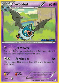 Swoobat Boundaries Crossed Pokemon Card