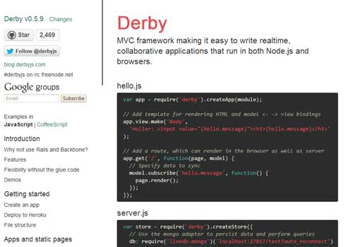 Derby ~ 43 Useful and Time Saving Web Development Kits and Frameworks