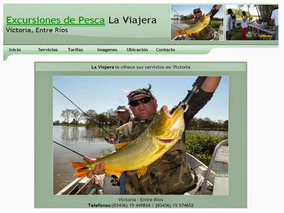 """Excursiones de Pesca en Victoria Entre Rios """"La Viajera"""""""