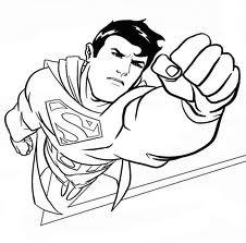 Coloriage Super Héros à imprimer Kidzeo - Coloriage De Superman A Imprimer