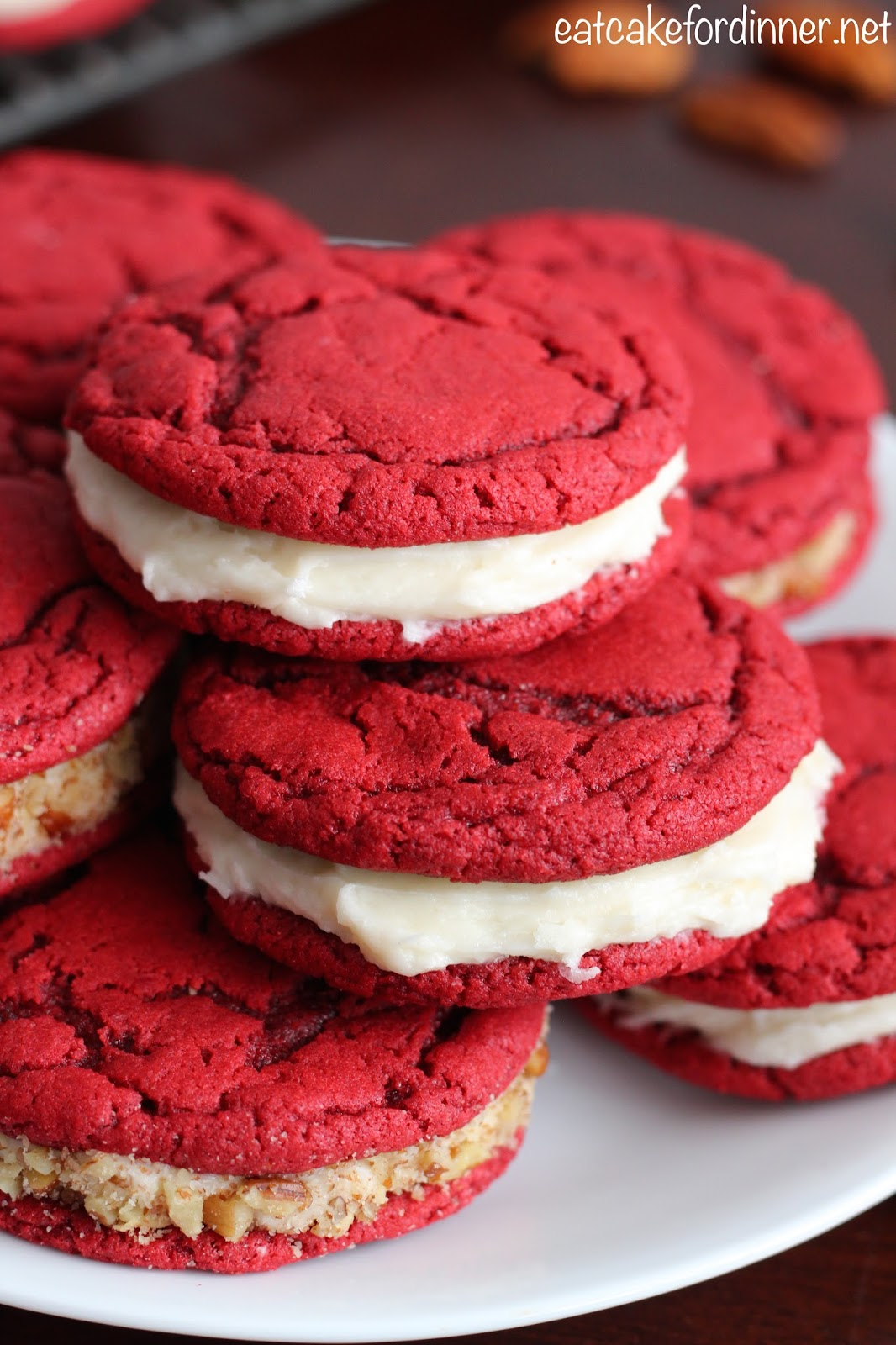 Red Velvet Cake Cookies From Scratch