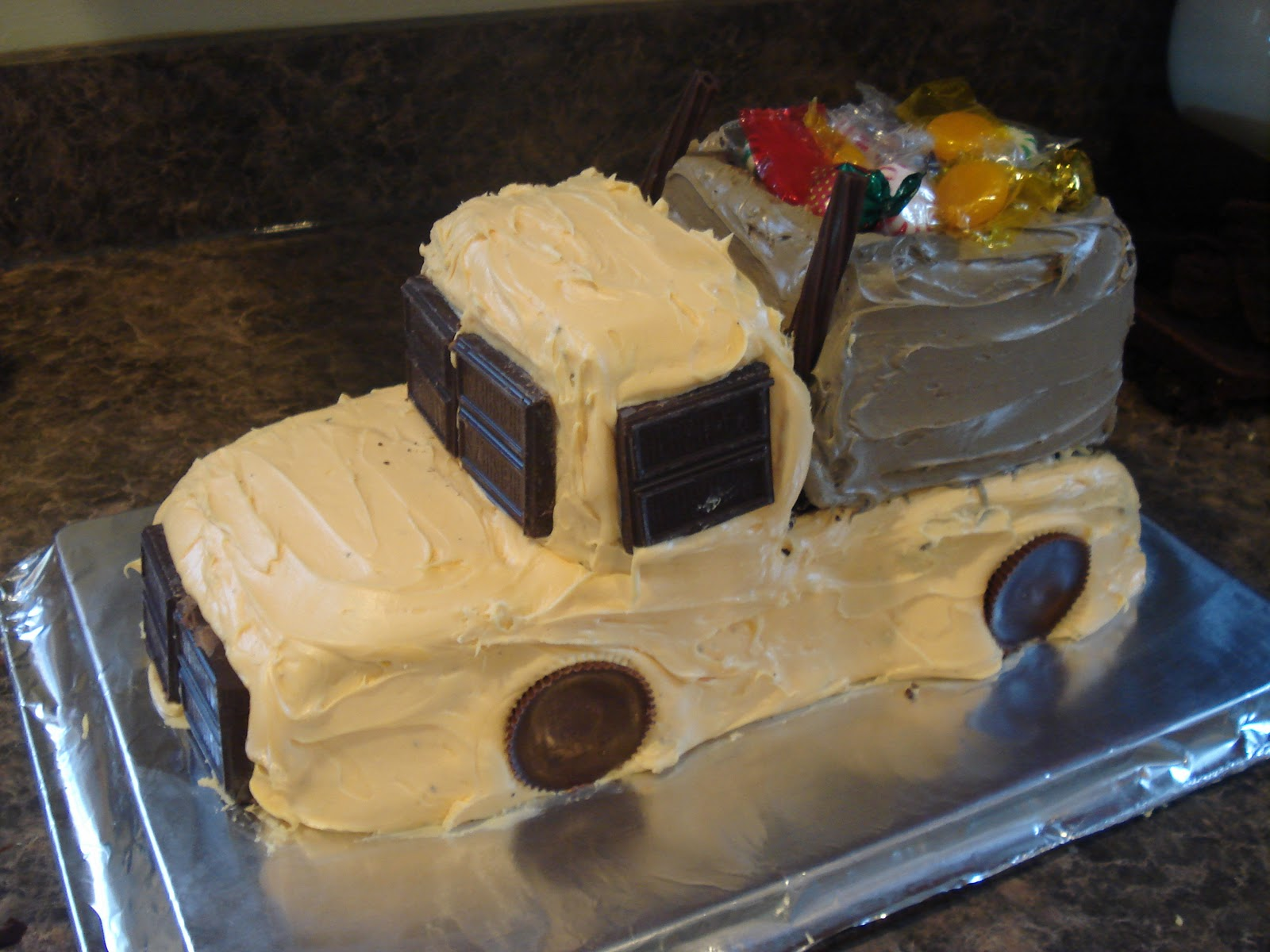 Love Your Journey Dump Truck Birthday Cake And More