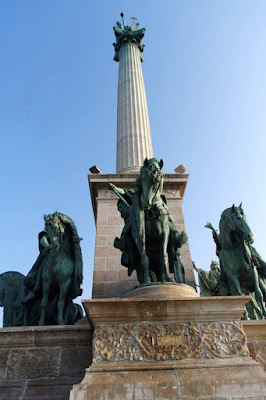The Chieftains of Magyars at the Heroes' Square Budapest