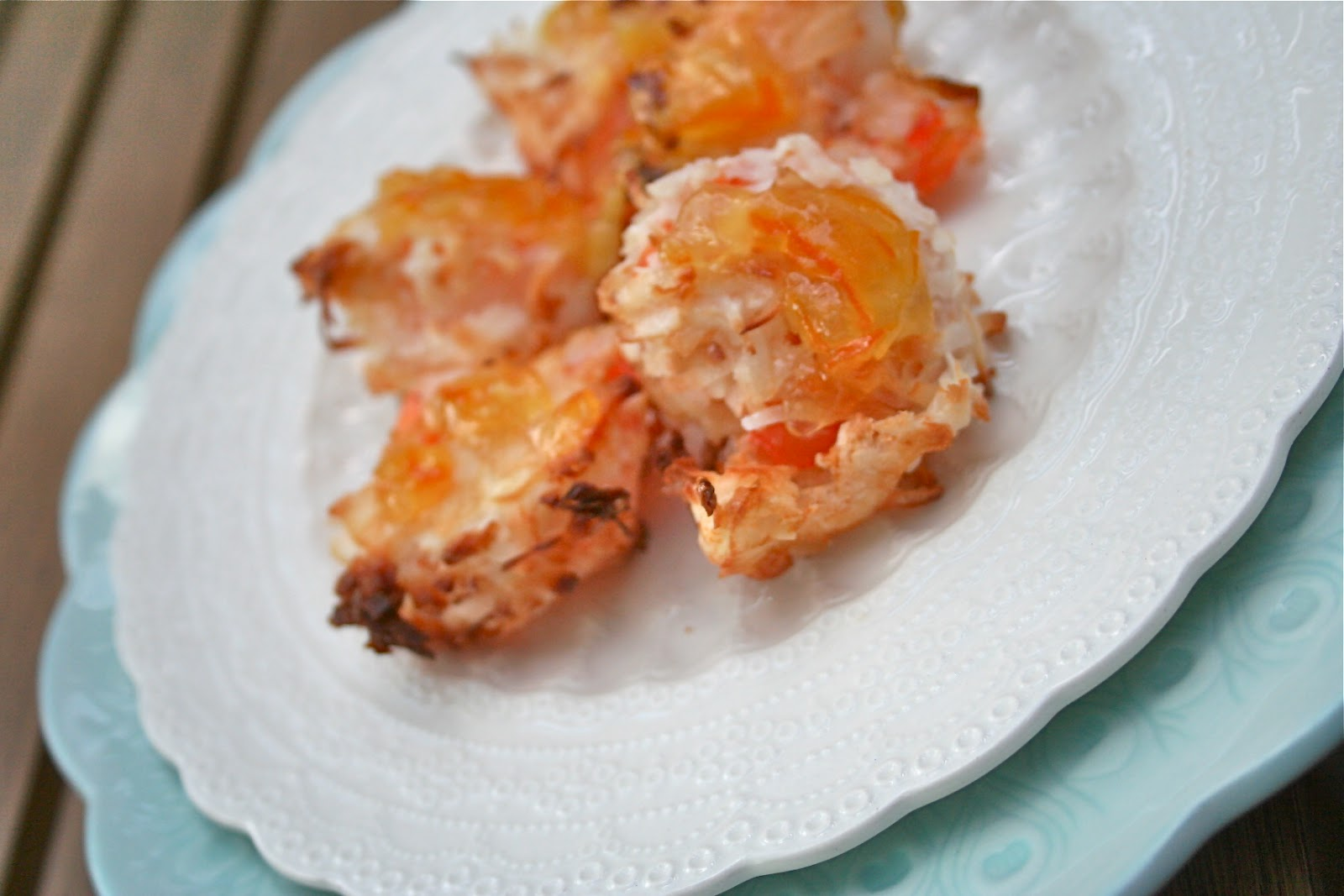 Once Upon A Pie: Baked Coconut Shrimp with Orange Sauce