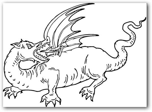 Excepcional Dragón De Fuego Realista Dragón Para Colorear ...