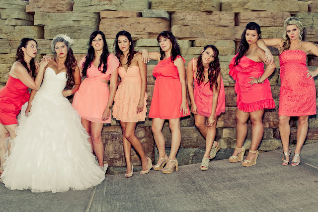 Bridesmaid poster wedding photo