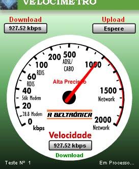 MI VELOCIDAD DE INTERNET 15 MB