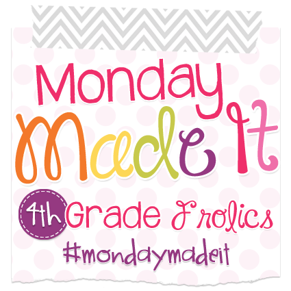 "This is a graphic that says, ""Monday Made It: 4th Grade Frolics."""