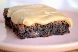 Clean Eating Brownies with Peanut Butter Frosting