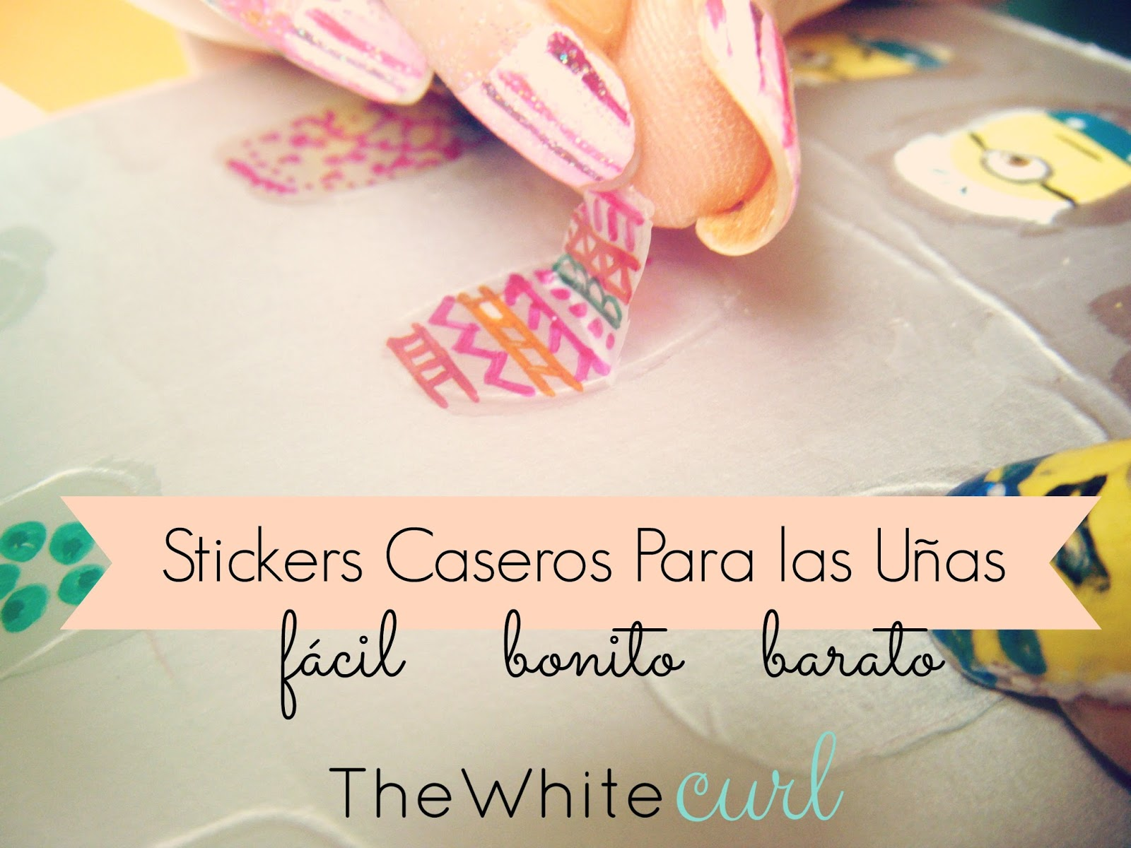 Diy stickers para u as caseros the white curl for Donde venden stickers para pared