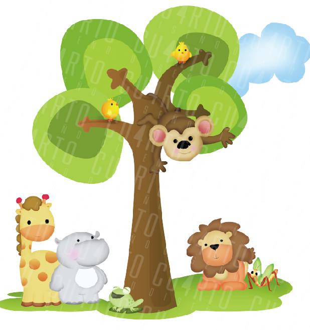 Animales de la selva baby - Imagui