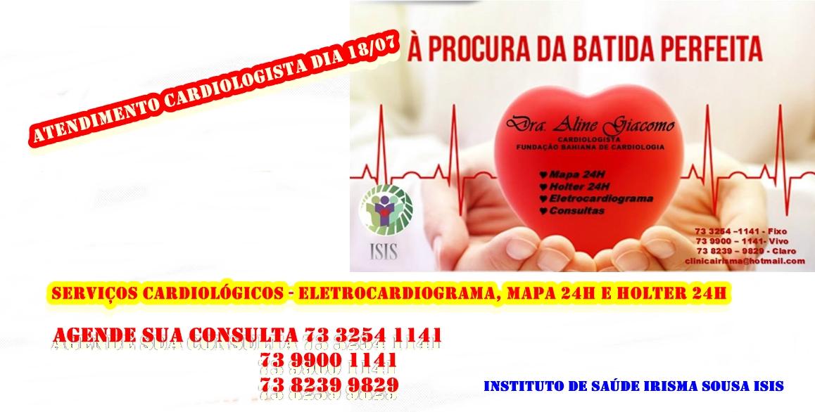 Cardiologista dia 18/07